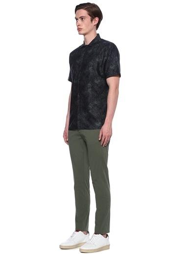 J Lindeberg Desenli Kısa Kollu Gömlek Yeşil